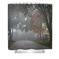 Foggy Street Shower Curtain by Elena Elisseeva