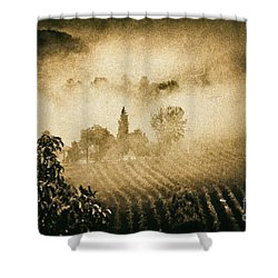 Shower Curtain featuring the photograph Foggy Tuscany by Silvia Ganora