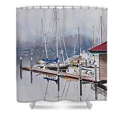 Foggy Dock Shower Curtain