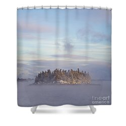 Fogscape Shower Curtain by Evelina Kremsdorf