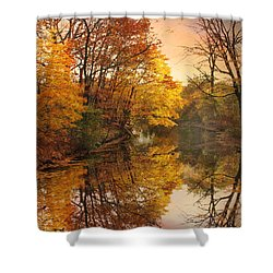 Shower Curtain featuring the photograph Foliage Reflected by Jessica Jenney
