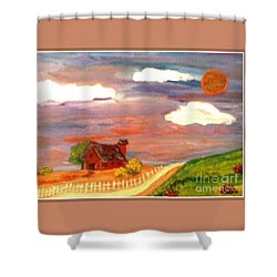 Shower Curtain featuring the painting Folk Art by Bobbee Rickard