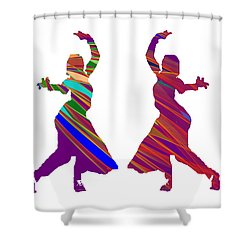 Shower Curtain featuring the photograph Folk Dance Sparkle Graphic Decorations by Navin Joshi