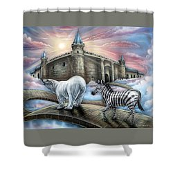 Follow Me Shower Curtain by John Bower