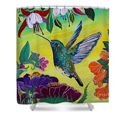 Follow Me Shower Curtain by Robin Maria Pedrero