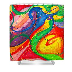 Follow Me Triptych Shower Curtain by Julia Fine Art And Photography