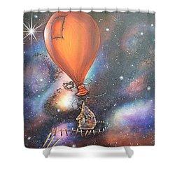 Follow That Star Shower Curtain