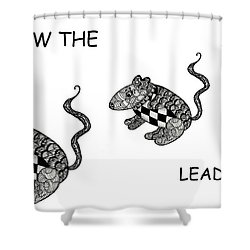 Follow The Leader Shower Curtain by Jo-Anne Gazo-McKim