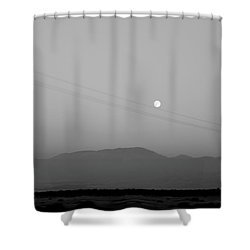Follow The Moon Shower Curtain