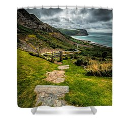 Follow The Path Shower Curtain by Adrian Evans