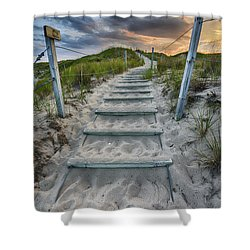 Shower Curtain featuring the photograph Follow The Path by Sebastian Musial