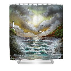 Follow The Wind Shower Curtain
