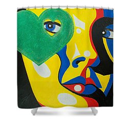 Shower Curtain featuring the painting Follow Your Heart by Susan DeLain