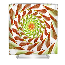 Shower Curtain featuring the digital art Abstract Swirls  by Ester  Rogers