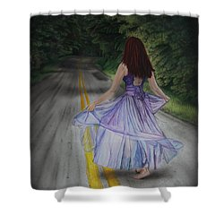 Follow Your Path Shower Curtain by Jackie Mestrom