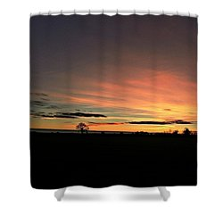 Following The Sun Shower Curtain by Vicki Field