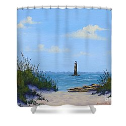 Folly Beach Lighthouse Shower Curtain
