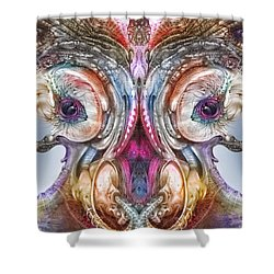 Shower Curtain featuring the digital art Fomorii Incubator Remix by Otto Rapp