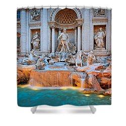 Fontana Di Trevi Shower Curtain by Inge Johnsson