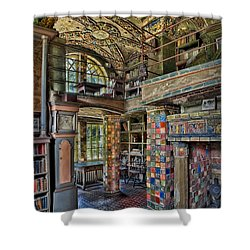 Fonthill Castle Library Room Shower Curtain by Susan Candelario