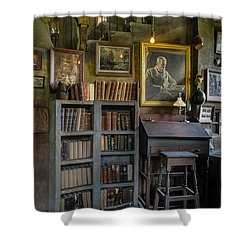Fonthill Castle Saloon Shower Curtain by Susan Candelario