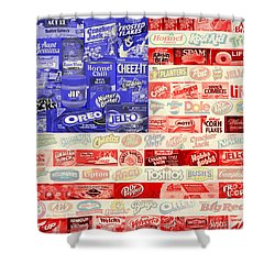 Food Advertising Flag Shower Curtain
