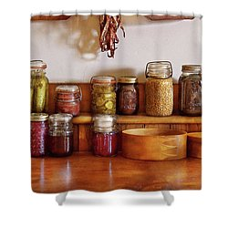 Food - I Love Preserving Things Shower Curtain by Mike Savad