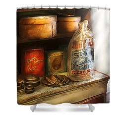 Food - Kitchen Ingredients Shower Curtain by Mike Savad