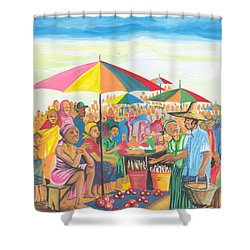 Food Market In Cameroon Shower Curtain