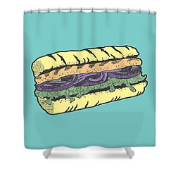Food Masquerade Shower Curtain by Freshinkstain