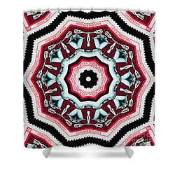 Food Mixer Mandala Shower Curtain