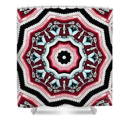 Food Mixer Mandala Shower Curtain