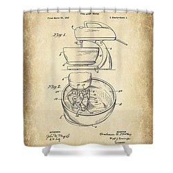 Food Mixer Patent Kitchen Art Shower Curtain