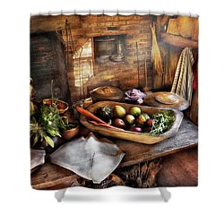 Food - The Start Of A Healthy Meal  Shower Curtain by Mike Savad