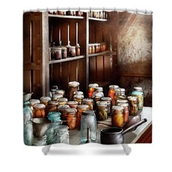 Food - The Winter Pantry  Shower Curtain by Mike Savad