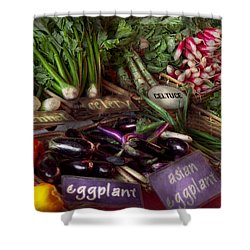 Food - Vegetables - Very Fresh Produce  Shower Curtain by Mike Savad