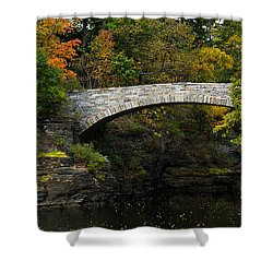 Foot Bridge At Beebe Lake Shower Curtain