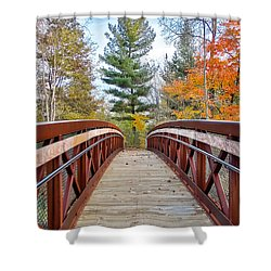 Foot Bridge In Fall Shower Curtain