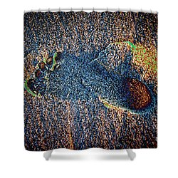 Shower Curtain featuring the photograph Foot In The Sand by Mariola Bitner