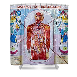 Foot Massage Shower Curtain