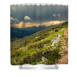 Foot Path Into The French Alps Shower Curtain