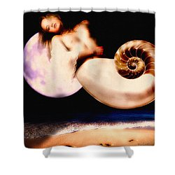 Foot Prinnts In The Sand Shower Curtain by Bob Orsillo