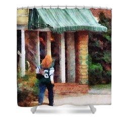 Football Fan Shower Curtain by Susan Savad