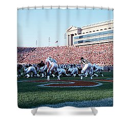 Football Game, Soldier Field, Chicago Shower Curtain by Panoramic Images