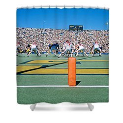 Football Game, University Of Michigan Shower Curtain by Panoramic Images