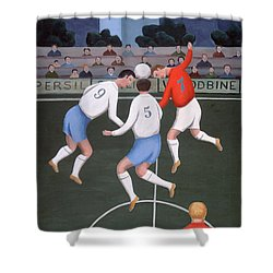 Football Shower Curtain by Jerzy Marek