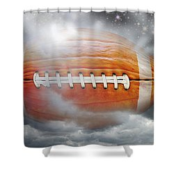 Football Pumpkin Shower Curtain