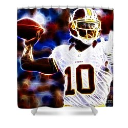 Football - Rg3 - Robert Griffin IIi Shower Curtain by Paul Ward