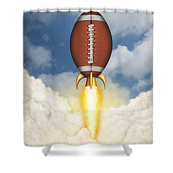 Football Spaceship Shower Curtain
