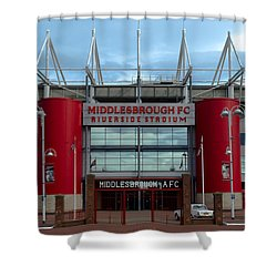 Football Stadium - Middlesbrough Shower Curtain